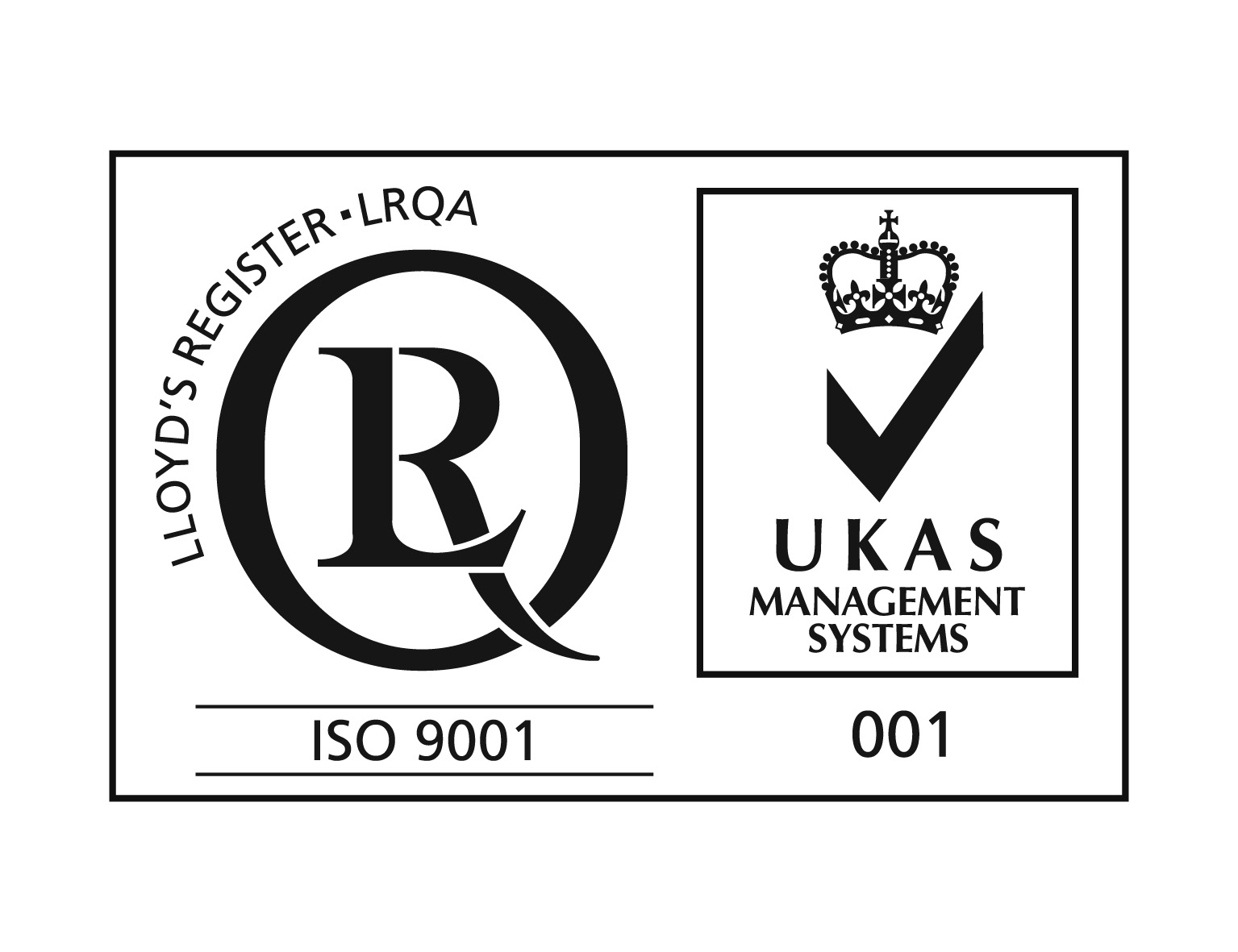 Logo ISO 9001 with UKAS